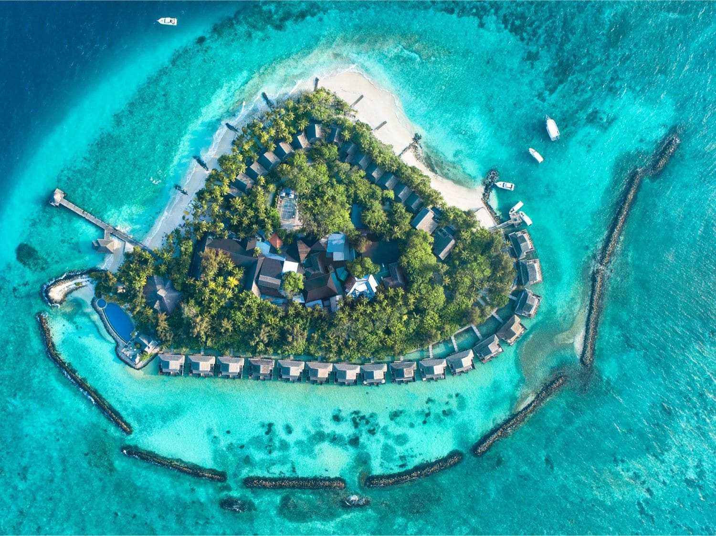 Aerial View - Taj Coral Reef